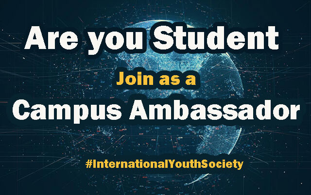 Call for Apply: Campus Ambassador for International Youth Society